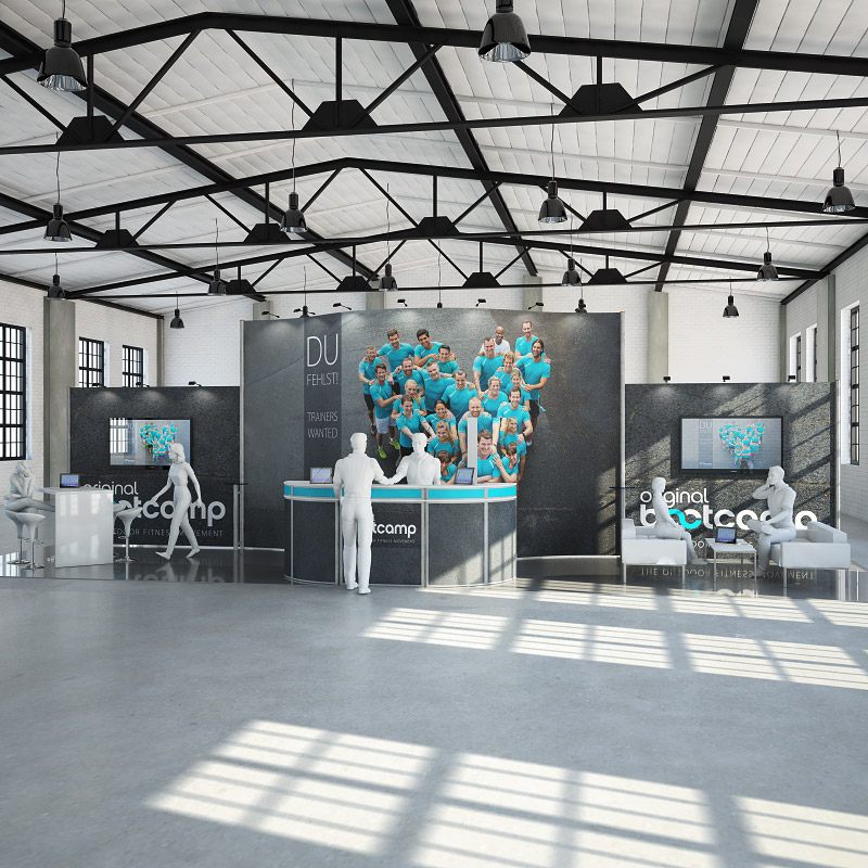 elegance bis 50 qm messestand messest nde messebau. Black Bedroom Furniture Sets. Home Design Ideas